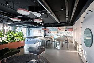پلان باز در طراحی داخلی فضای اداری خلاقانه و  پویا