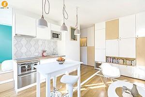 طراحی داخلی آپارتمان 30 متری مینیمال