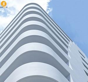 طراحی ساختمان پله ای