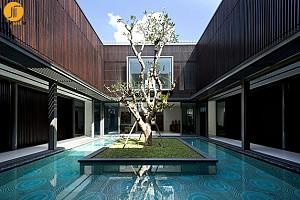 معماری ویلا با توجه به عنصر حیاط مرکزی