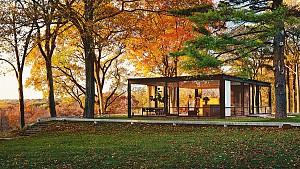 کلاسیک های معماری : خانه شیشه ای اثر فیلیپ جانسون