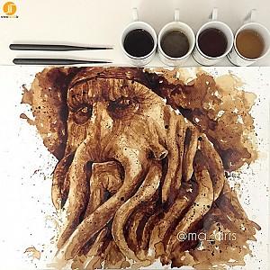 نقاشی های فوق العاده به وسیله متریال قهوه