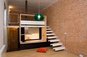 طراحی داخلی یک آپارتمان 37 متری