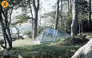 اولین طرح جامع نورمن فاستر( پناهگاهی در پیل کریک کورنوال) 1963