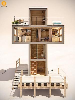طراحی یک خانه رویایی پایدار در 12 متر مربع
