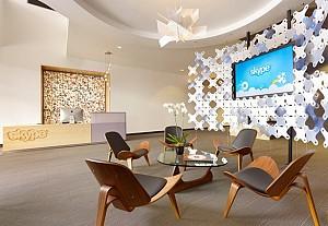 طراحی داخلی دفتر اسکایپ ، بزرگترین شرکت تلفن اینترنتی