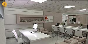 طراحی داخلی دفتر بانکداری شرکتی بانک ملت