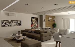 معماری داخلی ویلا میرزایی در دماوند توسط گروه معماران آرل