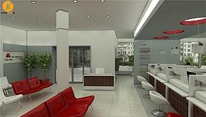 طراحی داخلی بانک ملت تراکمه - استان گلستان