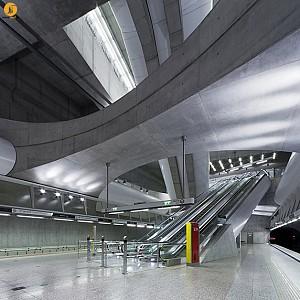 طراحی ایستگاه مترو M4 بوداپست