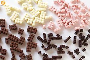 طرح های خلاقانه LEGO با شکلات