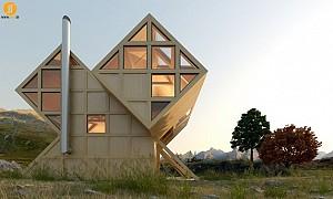 طراحی ویلای چوبی به سبک معماری معاصر