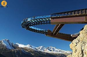 پل معلق با کانسپت منظر طبیعی و یخچال های طبیعی