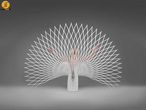 طراحی مبل با کانسپت طاووس