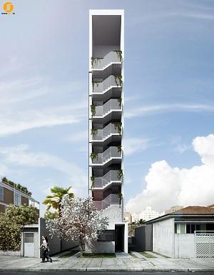 طراحی ساختمان مسکونی لاغراندام