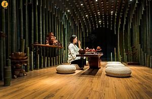 طراحی چایخانه سنتی به وسیله بامبو