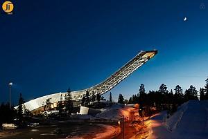 طراحی ویلا در انتهای رمپ پرش اسکی