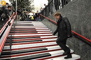 طراحی پله های موزیکال در متروی استکهلم