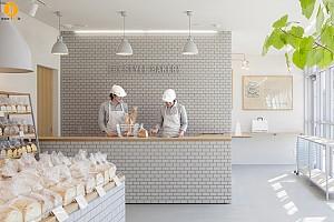 طراحی مینیمال شیرینی پزی و نانوایی