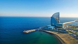 هتل w بارسلونا - چشم اندازی به وسعت مدیترانه