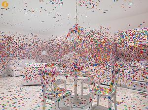 طراحی دکوراسیون داخلی اتاق توسط یایویی کاساما