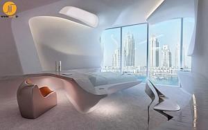طراحی داخلی دفتر کار شرکت Opus توسط زاها حدید