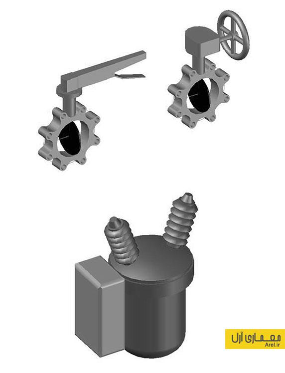 دانلود آبجکت های سه بعدی تاسیسات