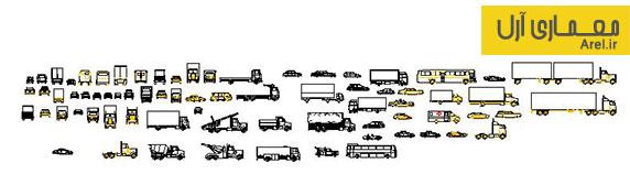 دانلود آبجکت و بلاک انواع اتومبیل