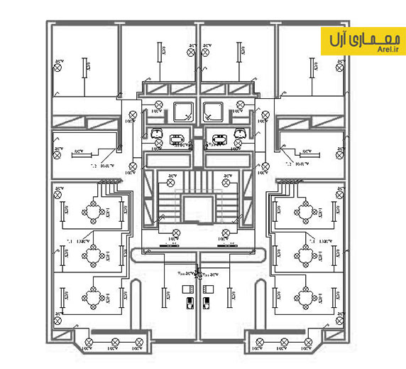 دانلود پلان تاسیسات الکتریکی و مکانیکی ساختمان مسکونی