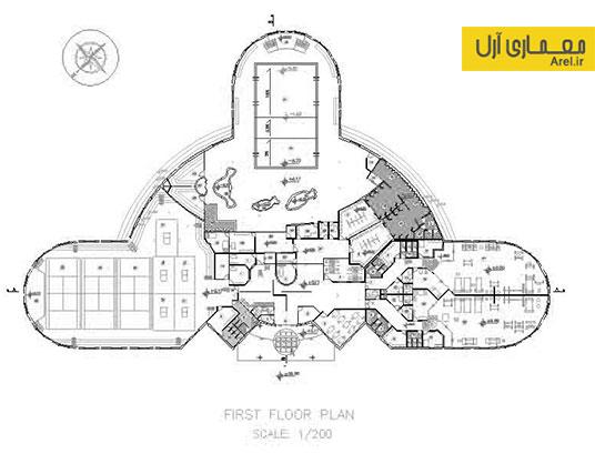 دانلود نقشه های معماری ورزشگاه