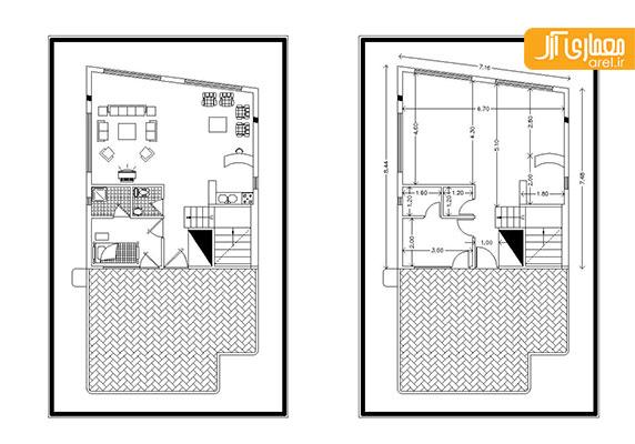 دانلود پلان ویلای یک طبقه