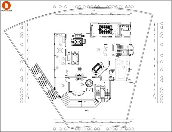 پلان ویلا 3 طبقه،پلان ویلایی 3 طبقه،دانلود پلان ویلا 3 طبقه،پلان ویلا