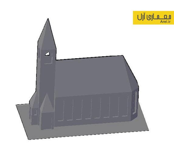 دانلود مدل سه بعدی DWG کلیسا