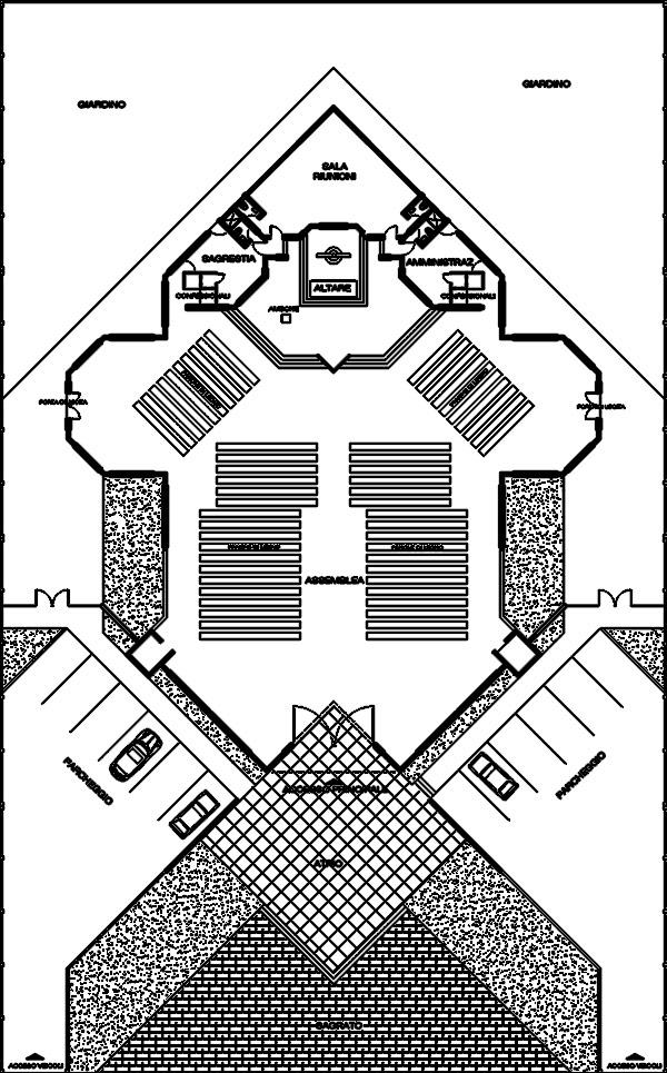 پلان کلیسا با الگوی چلیپایی
