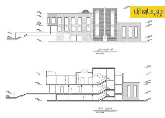 دانلود پلان های سازه ی فلزی ساختمان شهرداری رزن