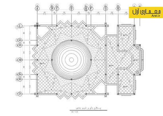 دانلود پلان فاز 2 مسجد جامع قزوین به همراه دیتیل های اجرایی