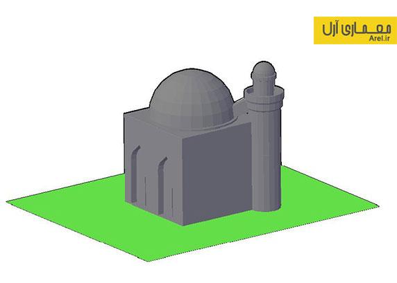 دانلود فایل سه بعدی DWG مسجد