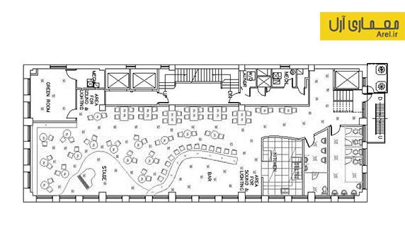 دانلود پلان و نقشه معماری رستوران