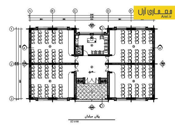 دانلود پلان فاز 2 و کامل مدرسه