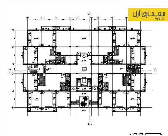 دانلود پلان فاز 2 خوابگاه دانشجویی