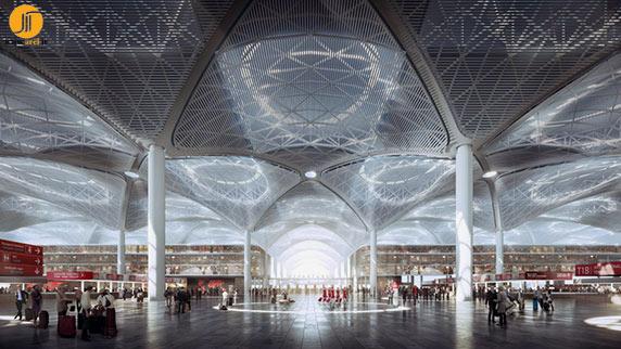 معماری فرودگاه،طراحی فرودگاه،معماری سالن فرودگاه