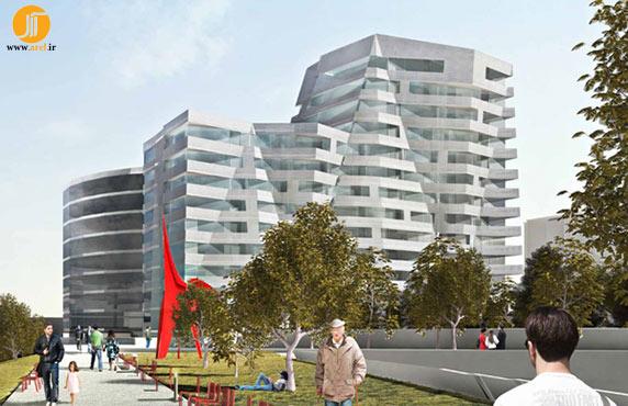 معماری،معماری مجتمع مسکونی،طراحی برج مسکونی