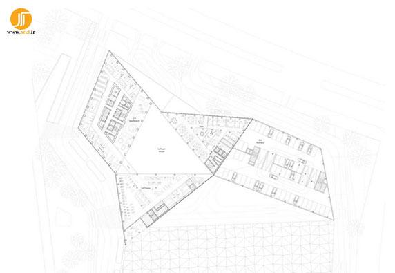 معماری برج،برج روبان آبی، طراجی برچ، معماری ساختمان