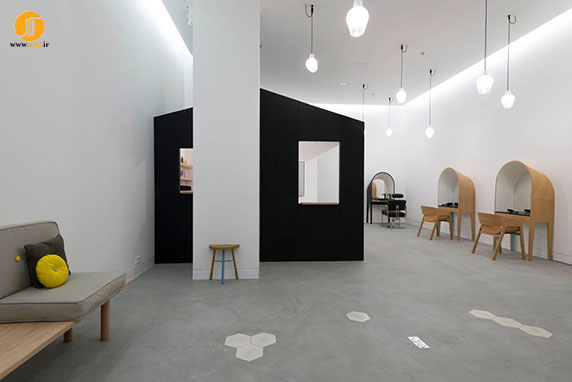 طراحی داخلی سالن زیبایی ، دکوراسیون داخلی آرایشگاه ، معماری داخلی انیسیتو زیبایی