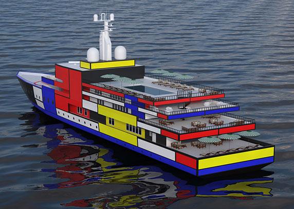 طراحی کشتی،طراحی خلاقانه ی کشتی،vasily klyukin