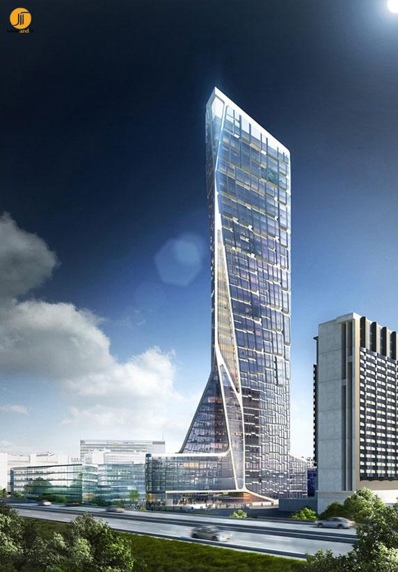 برج بیوکلماتیک،معماری برج،طراحی برج