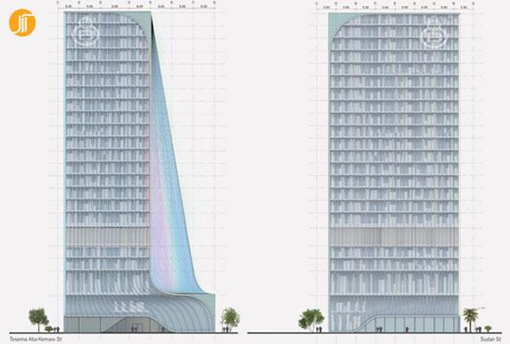 معماری برج،معماری ساختمان،طراحی ساختمان
