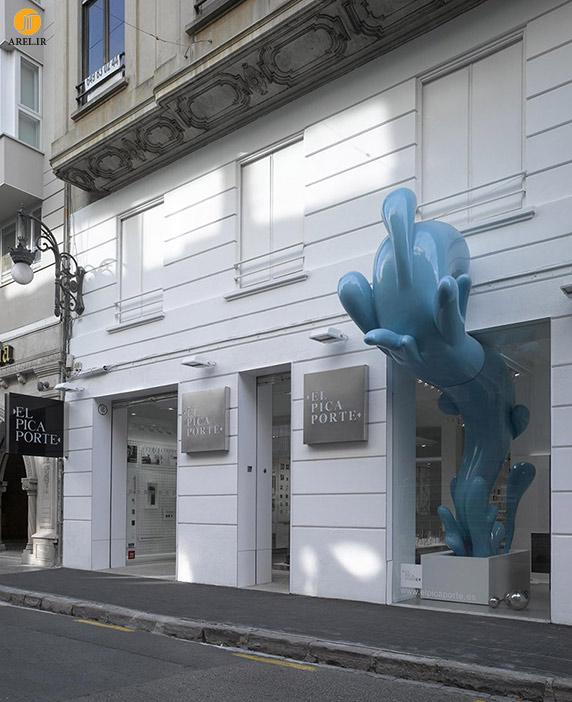 طراحی مجسمه،مجسمه خلاقانه،طراحی خلاقانه مجسمه،طراحی داخلی فروشگاه