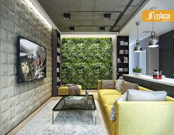 بررسی طراحی داخلی 3 آپارتمان مدرن با سقف بتنی و کفپوش های چوبی