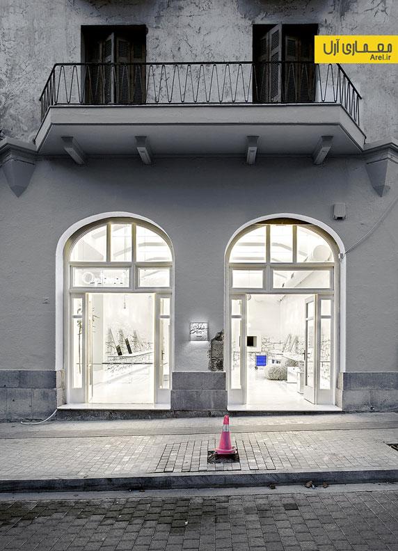 طراحی داخلی فروشگاه عینک در یونان